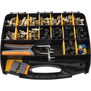 Kit 3-BNCPro : T&S,Large Kit 100x BNC & CaP's,cable cutter & pliers