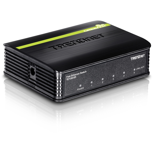 TRENDnet TE100-S5 5 Ports Ethernet Switch - 5 x Fast Ethernet Network - 2 Layer Supported