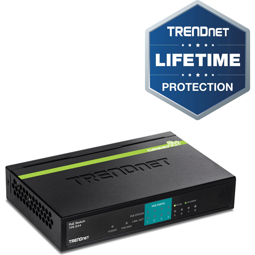 TRENDnet TPE-S44 8 Ports Ethernet Switch - 8 x Fast Ethernet Network - 2 Layer Supported