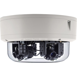 Arecont Vision SurroundVideo Omni AV12376RS 12 Megapixel Network Camera - Colour - H.264, Motion JPEG - 2048 x 1536 - 2.80 mm - 6 mm - 2.1x Optical - Cable - Dome - Surface Mount, Junction Box Mount, Corner Mount, Pole Mount, Pendant Mount, Wall Mount, Flush Mount