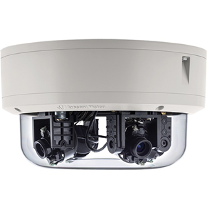 Arecont Vision SurroundVideo Omni AV20375RS 20 Megapixel Network Camera - Colour - H.264, Motion JPEG - 2560 x 1920 - 3.30 mm - 6.60 mm - 2x Optical - Cable - Dome - Surface Mount, Junction Box Mount, Corner Mount, Pole Mount, Pendant Mount, Wall Mount, Flush Mount