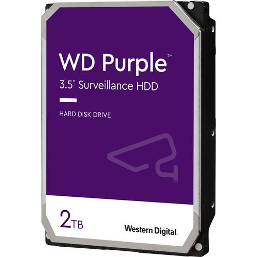 """WD Purple WD20PURZ 2 TB 3.5"""" Internal Hard Drive - SATA - 5400rpm - 64 MB Buffer"""