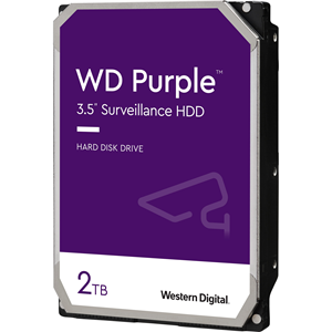 "WD Purple WD20PURZ 2 TB 3.5"" Internal Hard Drive - SATA - 5400rpm - 64 MB Buffer"