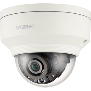 Hanwha Techwin WiseNet XNV-8020R 5 Megapixel Network Camera - Colour - 30 m Night Vision - H.265, MPEG-4 AVC, Motion JPEG, H.264 - 2560 x 1920 - 3.70 mm - CMOS - Cable - Dome - Wall Mount