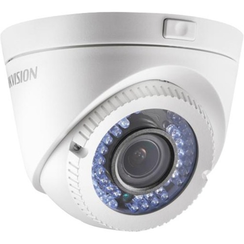 Hikvision Turbo HD DS2CE56C2TVFIR3 1.3 Megapixel Surveillance Camera - Colour - 40 m Night Vision - 1280 x 960 - 2.80 mm - 12 mm - 4.3x Optical - CMOS - Cable - Turret - Wall Mount, Pole Mount, Corner Mount, Junction Box Mount, Ceiling Mount