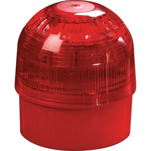 Apollo 55000-005 Horn/Strobe - Wired - 28 V DC - 100 dB(A) - Visual, Audible - Wall Mountable - Red