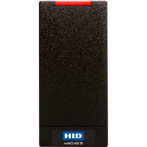 HID multiCLASS SE Contactless Smart Card Reader - Black - Cable109.22 mm Operating Range