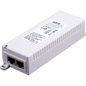 AXIS T8133 PoE Injector - 120 V AC, 230 V AC Input - 1 10/100Base-TX Input Port(s) - 1 10/100Base-TX Output Port(s) - 30 W - Wall/Shelf/DIN Rail-mountable