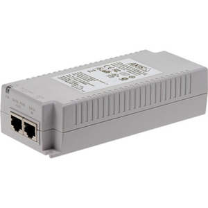 AXIS T8134 PoE Injector - 110 V AC, 230 V AC Input - 55 V DC Output - 10/100/1000Base-T Input Port(s) - 10/100/1000Base-T Output Port(s) - 60 W - Wall/Shelf/DIN Rail-mountable