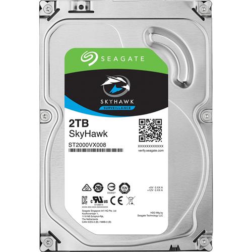 Seagate SkyHawk ST2000VX008 2 TB Internal Hard Drive - SATA - 64 MB Buffer