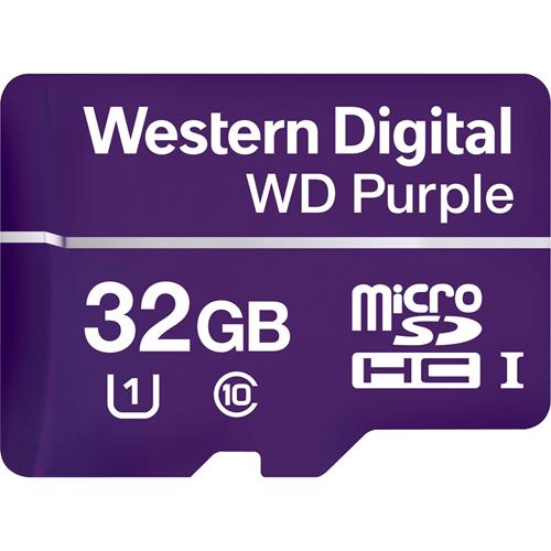 WD Purple WDD032G1P0A 32 GB microSDHC - Class 10/UHS-I (U1) - 80 MB/s Read - 50 MB/s Write - Retail