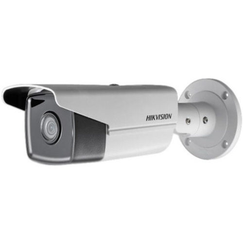 Hikvision EasyIP 3.0 DS-2CD2T45FWD-I8 4 Megapixel Network Camera - Colour - 80 m Night Vision - H.264+, Motion JPEG, H.264, H.264H, H.265, H.265+ - 2688 x 1520 - 8 mm - CMOS - Cable - Bullet - Junction Box Mount