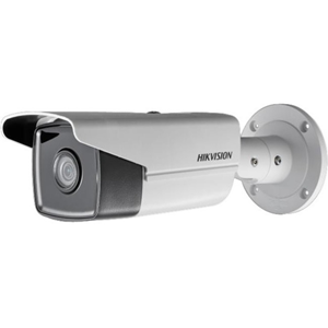 Hikvision EasyIP 3.0 DS-2CD2T45FWD-I8 4 Megapixel Network Camera - Colour - 80 m Night Vision - H.264+, Motion JPEG, H.264, H.265+, H.265 - 2688 x 1520 - 12 mm - CMOS - Cable - Bullet - Junction Box Mount