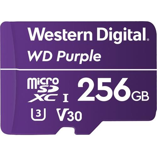 WD Purple WDD256G1P0A 256 GB microSDXC - Class 10/UHS-III (U3) - 100 MB/s Read - 60 MB/s Write