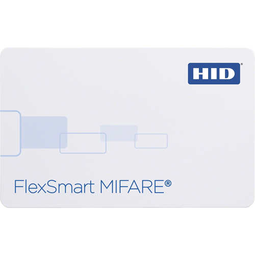 HID FlexSmart MIFARE Smart Card - Printable - Magnetic Stripe Card - 85.73 mm Width x 53.98 mm Length - White - Polyvinyl Chloride (PVC)