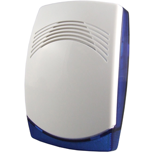 CQR Piccolo Security Alarm - 15 V DC - 112 dB(A) - Audible, Visual - Blue, White