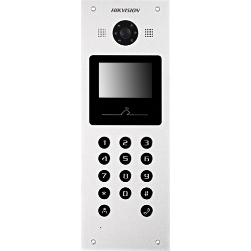 "Hikvision DS-KD3002-VM 8.9 cm (3.5"") Video Door Phone Sub Station - TFT LCD - 1.3 Megapixel - CMOS - Half-duplex - Aluminium Alloy - Door Entry"